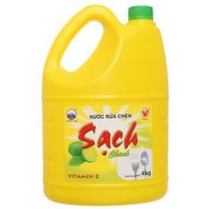 Nước Rửa Chén Net Sạch Chanh Chai 4Kg