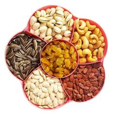 [Mứt Tết 2019] Mai Hạt gồm 5 loại hạt + 1 nho khô + hộp đựng hoa mai tinh tế