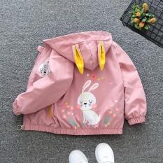 [Bán chạy] Áo khoác gió tai thỏ siêu dễ thương cho bé gái 7 đến 32 kg