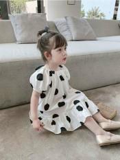 💥💥 HÀNG MỚI VỀ 💥Váy bé gái màu trắng chấm bi đỏ đen cực xinh cho bé từ 1-6 Tuổi