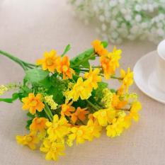 Hoa Giả – Bông giả – Hoa cúc nhí 7 cánh – Cành 28 bông – Hoa lụa trang trí cao cấp