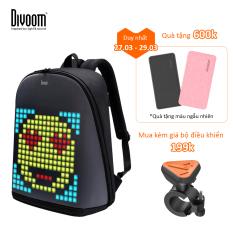 [Tặng sạc dự phòng] Balo Divoom – Pixoo backpack có màn hình LED tùy chỉnh bằng APP, ngăn chứa lớn vừa Laptop 13 Inch, chống thấm nước cho hoạt động ngoài trời