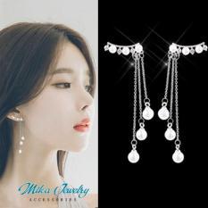 Bông tai nữ ngọc trai dài tua rua siêu hot mẫu mới 2019 phụ kiện trang sức thời trang ulzzang hàn quốc – mikashop