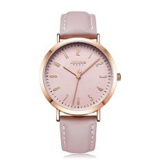 Đồng hồ nữ Julius Hàn Quốc JA-1017D dây da (Hồng)