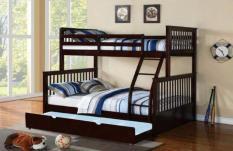 Giường 3 Tầng K.Bed (Nâu) mẫu mã sang trọng, độ bền cao cùng với sự tinh tế, tiết kiệm được tối đa không gian trong gia đình