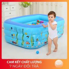 [ CHAT VỚI SHOP NHẬN VOUCHER 40.000Đ ] Bể Phao bơi cho bé 1M3 , BỂ BƠI TRẺ EM 3 TẦNG cho bé trong nhà cho bé cao cấp hình chữ nhật, HỒ BƠI TRẺ EM, Bồn tắm trẻ em bơm hơi BEBOIM3