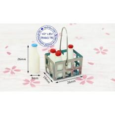 Giỏ Chai Sữa Mô Hình Trang Trí Nhà Búp Bê