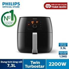 Nồi chiên không dầu Philips HD9650 XXL (1.4kg), dung tích lồng nồi 7.3L 2200W- Hàng phân phối chính hãng – Không mùi, không khói; Đa chức năng: có thể dùng nồi chiên để nướng, làm bánh hay quay thịt