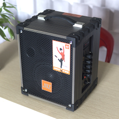 Loa kéo di động – Loa kéo Karaoke – Loa kéo giá rẻ – Loa kéo đa năng cỡ lớn vân gỗ cao cấp bluetooth âm thanh Hifi hát karaoke tặng kèm Mic không dây JBZ NE j106 -2020
