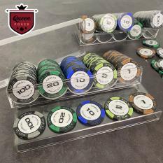Set 10 phỉnh poker có số ( chip poker ) hợp chất nhựa ABS có lõi kim loại cao cấp TẶNG KHAY KHI MUA 100 CHIP
