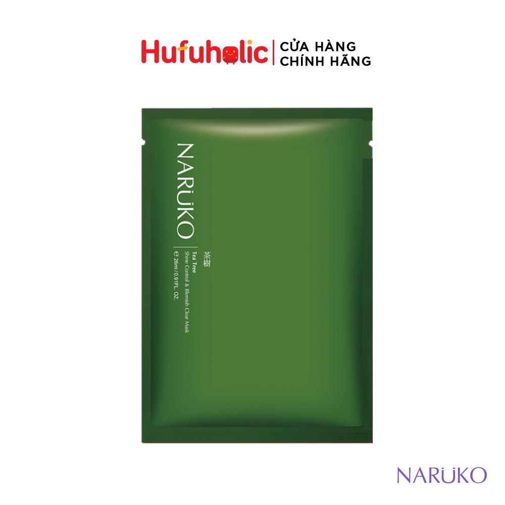 Mặt nạ NARUKO Tràm Trà kiểm soát dầu và ngăn ngừa giảm mụn Tea Tree (Đài – Trung)