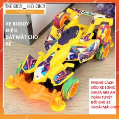 Đồ chơi ô tô điện phong cách xe đua siêu ngầu cho bé
