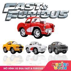 Ô tô mô hình tỷ lệ 1:36 xe đua Fast&Furious bánh đà chất liệu hợp kim đồ chơi an toàn cho bé, o to mo hinh xe dua Fast@Furious banh da do choi an toan cho be