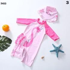 Bộ bơi liền thân bé gái❤️️Đồ bơi bé gái kèm mũ