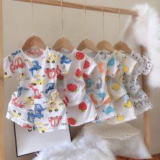 combo 5 bộ cotton giấy cộc tay cho bé (4-14kg)
