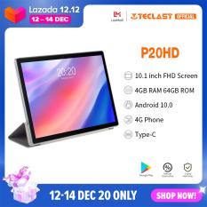 【Giảm giá hấp dẫn】 Máy tính bảng Android Teclast Official P20HD 10.1 inch Android 10.0 OS 4GB RAM 64GB ROM 4G Gọi điện thoại 1920 × 1200 Pin 6000mAh