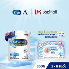 Bộ 1 lon Sữa bột Enfagrow A2 Neuropro 3 cho trẻ từ 1 – 6 tuổi – 350g -Tặng 1 Gói khăn ướt Bobby 100 tờ