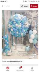 Combo 100 vỏ bóng màu xanh dương pastel và xanh tiffany, trắng