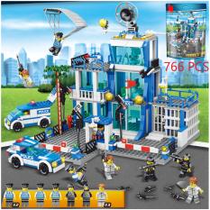 [766 CHI TIẾT] Bộ Đồ Chơi Xếp Hình Lego Trụ Sở Police, Lego Xe Swat, Lego Chiến Hạm, Lego Tàu Chiến, Lego Xe Oto, Lego Robot, Lego Xe Tăng