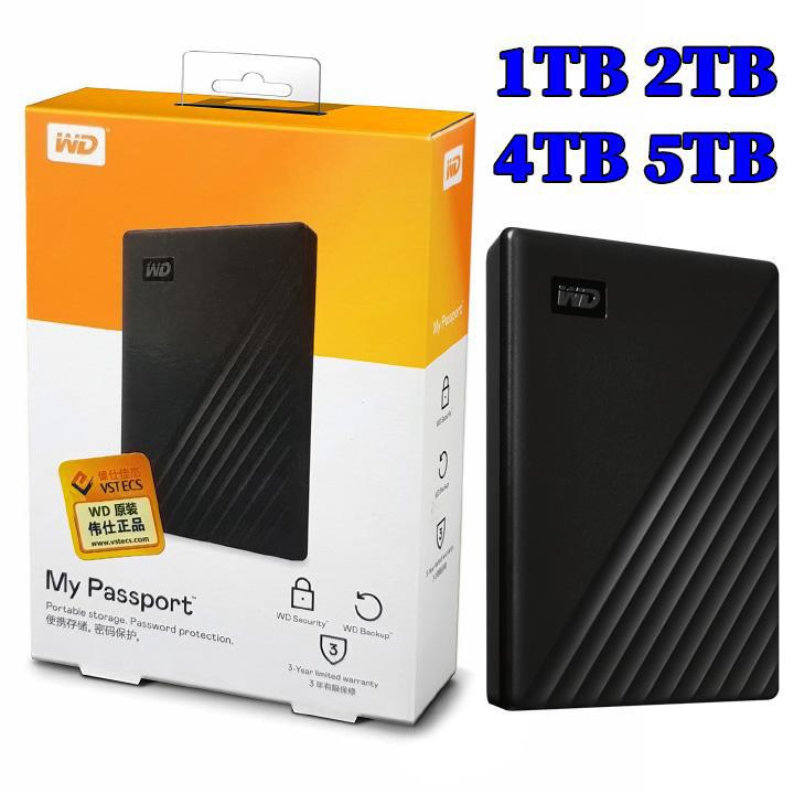 Ổ cứng di động USB3.0 WD My Passport 1TB 2TB 4TB 5TB - Hàng Nhập Khẩu