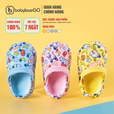Dép Sục Cho Bé BabyloveGo 2031 Đế Eva Siêu Mềm Nhẹ Chống Trơn Trượt Cho Bé Chính Hãng