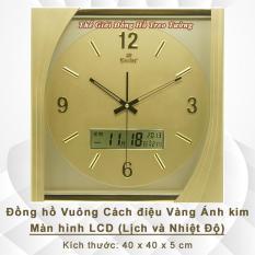 Đồng hồ Gastar hình Vuông Cách điệu có Màn hình Lịch và Nhiệt kế Điện tử