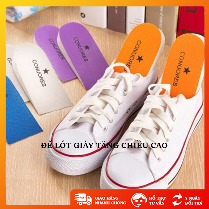 Đế lót giày tăng chiều cao chất liệu bằng xốp hạn chế lún xẹp, miếng độn giày tăng chiều cao từ 3 đến 5 cm – TT0233