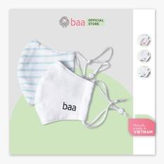 Khẩu trang vải trắng BAA BABY cotton kháng khuẩn cho em bé – UN-KT02X