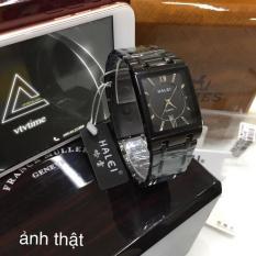 đồng hồ nam halei mặt vuông FULL đen HLV02