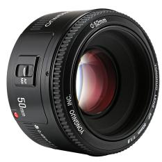 OneTwoFit 50mm Ống kính tiêu cự cố định F1.8 Ống kính lấy nét tự động khẩu độ lớn Máy ảnh DSLR kỹ thuật số Canon LF651