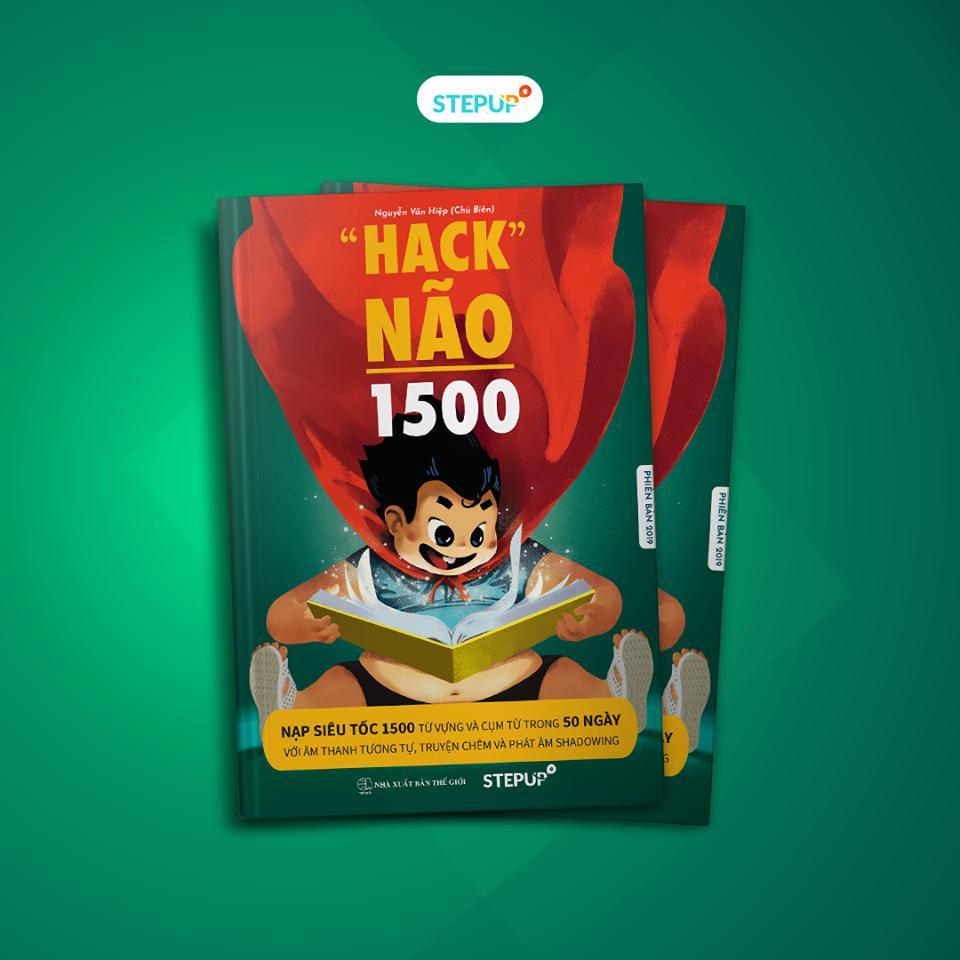 [TẶNG TÀI KHOẢN HỌC_BẢN CHUẨN 2019]_ HACK NÃO 1500 TỪ TIẾNG ANH_TẶNG KÈM AUDIO_BÌA MÀU