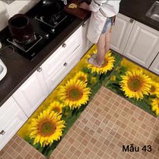Bộ 2 thảm bếp hình hoa thái dương siêu đẹp trang trí phòng bếp