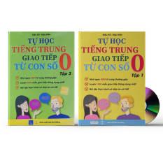 Combo 2 sách: Tự Học Tiếng Trung Giao Tiếp Từ Con Số 0 Tập 1 & 3 (Có audio nghe) + DVD quà tặng