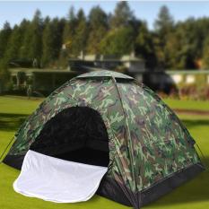 Lều cắm trại ngoài trời 2-4 người, lều phượt du lịch vải dù rằn ri tiện lợi, chống thấm nước dễ dàng gấp gọn, kích thước 2m x 1.5m x 1.3m bst1188