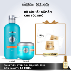 Bộ sản phẩm dầu gội & dầu hấp cấp ẩm cho tóc khô L'Oréal Professionnel Hair Spa