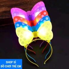 Đồ chơi hóa trang lễ hội cài tóc bé hình nơ chuột mic – key phát sáng