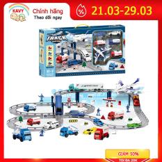 Bộ sản phẩm đồ chơi mô hình vận tải thành phố có máy bay, 12 ô tô, biển báo..phát triển tư duy, thực hành cho bé – KAVY