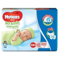 Miếng lót sơ sinh Huggies Dry NB 1 – 100 miếng/ NB2 – 60 miếng
