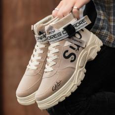 Giày nam cao cổ SUP kiểu dáng mạnh mẽ cá tính phong cách bụi bặm có đai điểm nhấn nổi bật