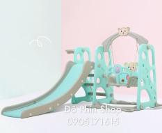 [XẢ KHO 09.09.2020] Cầu trượt Xích đu Bóng rổ liên hoàn 3 trong 1 – Đồ chơi vận động trong nhà cho bé