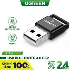 Thiết bị USB thu Bluetooth 4.0 dùng trên máy tính và laptop UGREEN US192 30524 – Hàng chính hãng