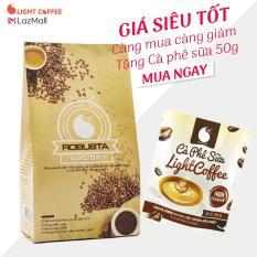 Cà phê bột nguyên chất Light coffee loại Đặc biệt , vị đậm , đắng , mạnh , không tẩm ướp hương liệu, 500g – Tặng Cà phê sữa Light Coffee 50g