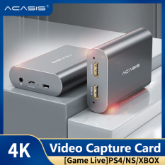ACASIS 4K USB2.0 HD HDMI to Type-c HD Video Capture Card HDMI Input to HDMI Output 1080P HD Game Record Box Live Streaming Compatible with Windows/Linux Systems,for PS4/3 Xbox one/360 Wii U ezcap261 – intl
