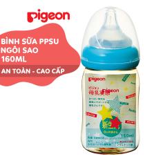 Bình sữa cổ rộng PPSU Plus Ngôi sao Pigeon 160ml (SS)
