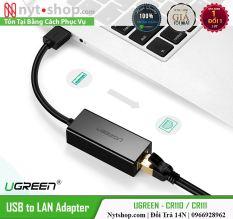 Cáp Chuyển USB 3.0 to Lan hỗ trợ 10/100/1000 Mbps Chính Hãng Ugreen CR111 Cao Cấp