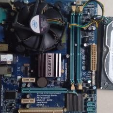 Combo G41 gigabyte ddr3 Ram 4G loại 2cây ram Hdd 160G,CPU intel e 8400