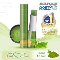 Son tan chảy dưỡng môi chống nắng Mentholatum Melty Cream Lip SPF25, PA+++ Matcha 2.4g (hương Trà xanh)