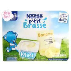 Sữa chua Nestle vị chuối 6*60g cho trẻ từ 4m – Pháp date T12.2020