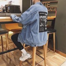 Áo khoác nam rách chất bò cao cấp phối chữ AK7 hot trend ATSM SHOP chất liệu vải jean cao cấp mềm mại, bền màu