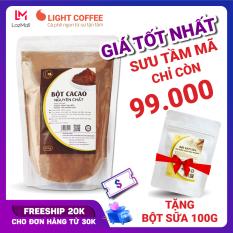 Bột cacao cao cấp Light Coffee , 100% nguyên chất, không pha trộn tạp chất , dễ tan, đậm đà – Gói 500g